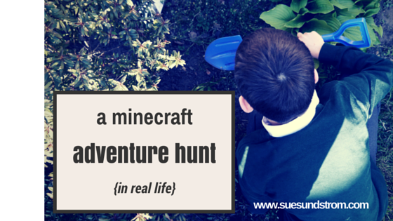 A Minecraft Adventure Hunt {in real life!}