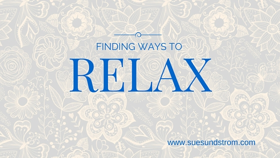 Finding ways to relax and destress