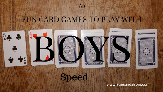 Fun card games to play with boys : Speed